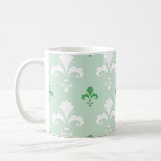 Modelo verde y blanco de la flor de lis