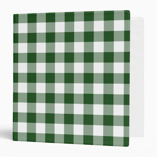 """Modelo verde y blanco de la guinga carpeta 1 1/2"""""""