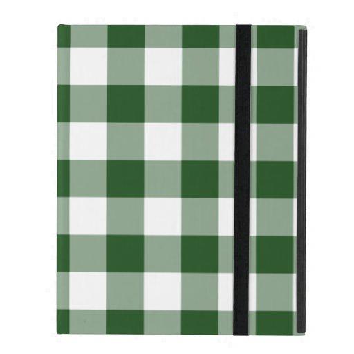 Modelo verde y blanco de la guinga iPad cárcasas