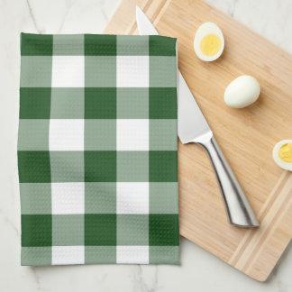 Modelo verde y blanco de la guinga toalla de mano