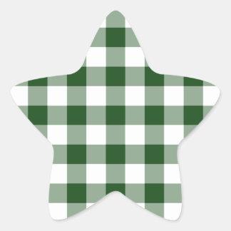 Modelo verde y blanco de la guinga calcomanía cuadrada