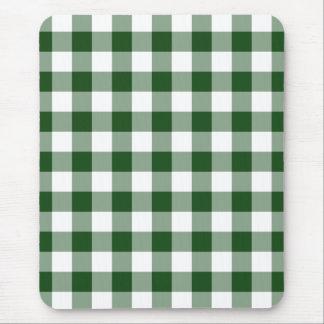 Modelo verde y blanco de la guinga tapete de ratones