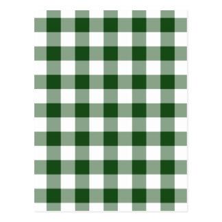 Modelo verde y blanco de la guinga tarjetas postales
