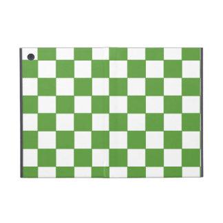 Modelo verde y blanco de moda del tablero de damas iPad mini protectores