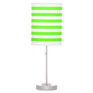 Modelo verde y blanco de neón de la raya lámpara de escritorio