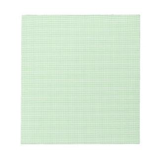 Modelo verde y blanco del control de la guinga blocs de papel