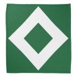 Modelo verde y blanco del diamante