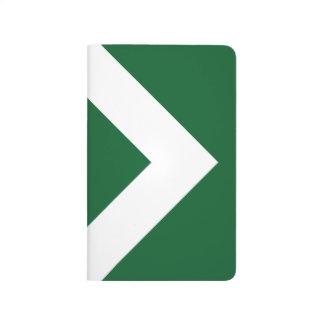 Modelo verde y blanco del diamante cuaderno grapado