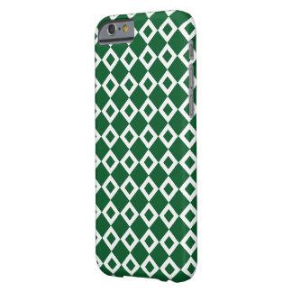 Modelo verde y blanco del diamante funda para iPhone 6 barely there