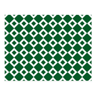 Modelo verde y blanco del diamante tarjeta postal
