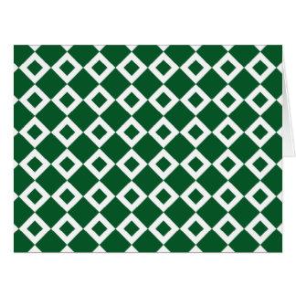 Modelo verde y blanco del diamante tarjetón