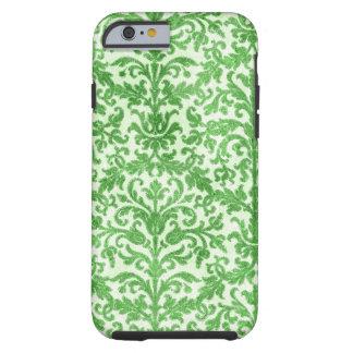 Modelo verde y blanco del papel pintado del funda para iPhone 6 tough