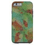 Modelo verde y marrón de la turquesa de mosaico funda de iPhone 6 tough