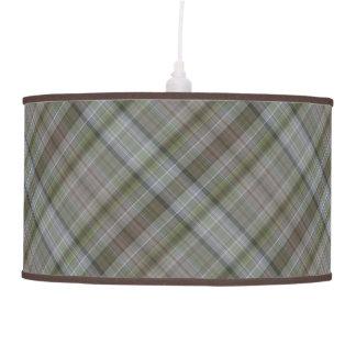 Modelo verde y marrón de las rayas lámpara de techo