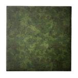 modelo verde y marrón del camuflaje teja