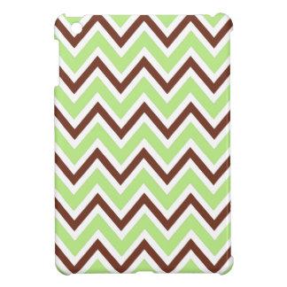 Modelo verde y marrón del galón del zigzag de moda