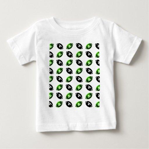 Modelo verde y negro brillante del fútbol playera
