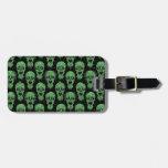 Modelo verde y negro de la apocalipsis del zombi etiquetas para equipaje