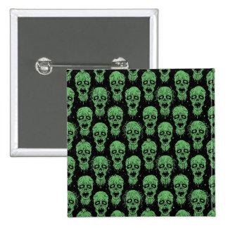 Modelo verde y negro de la apocalipsis del zombi pins