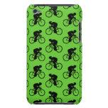 Modelo verde y negro de la bicicleta iPod touch Case-Mate protectores