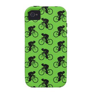 Modelo verde y negro de la bicicleta iPhone 4/4S funda