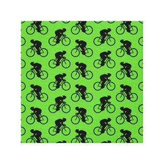 Modelo verde y negro de la bicicleta lona estirada galerías