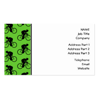 Modelo verde y negro de la bicicleta tarjetas de visita