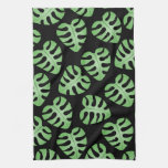 Modelo verde y negro de la hoja toalla de cocina
