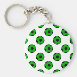 Modelo verde y negro del balón de fútbol llavero personalizado