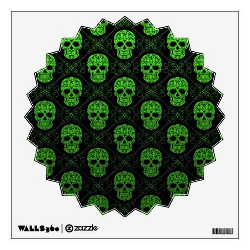 Modelo verde y negro del cráneo del azúcar