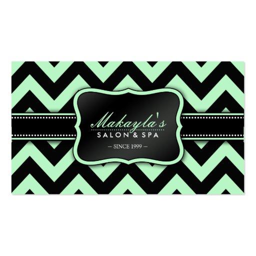 Modelo verde y negro en colores pastel elegante de plantillas de tarjeta de negocio