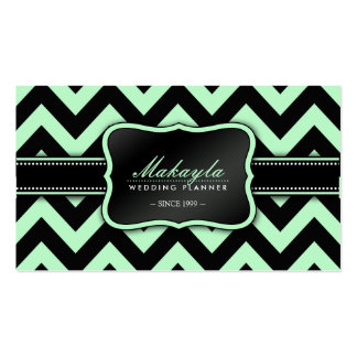 Modelo verde y negro en colores pastel elegante de tarjetas de visita
