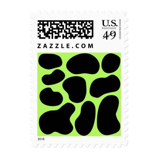 Modelo verde y negro enrrollado de la vaca sellos