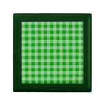 Modelo verde y verde claro de la guinga caja de recuerdo