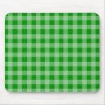 Modelo verde y verde claro de la guinga alfombrilla de ratón