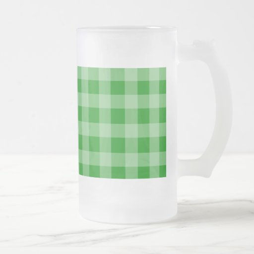 Modelo verde y verde claro de la guinga taza