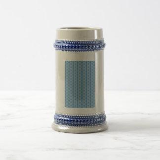 Modelo vertical azul tazas de café