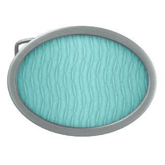Modelo vertical ondulado descolorado de la turques hebillas cinturon ovales