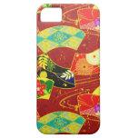 Modelo vibrante abstracto japonés oriental fresco iPhone 5 Case-Mate coberturas