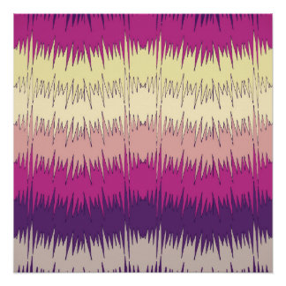 Modelo vibrante colorido del zigzag enrrollado perfect poster