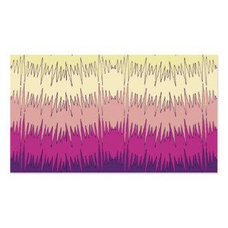 Modelo vibrante colorido del zigzag enrrollado tarjetas de visita
