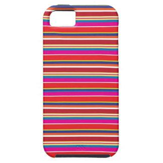 Modelo vibrante de la raya iPhone 5 protectores