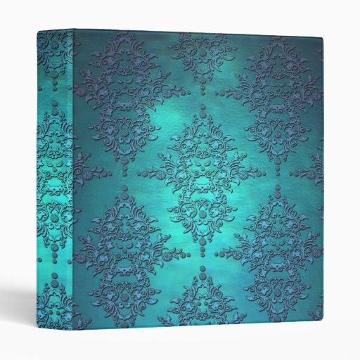 """Modelo vibrante del damasco de la turquesa carpeta 1"""""""