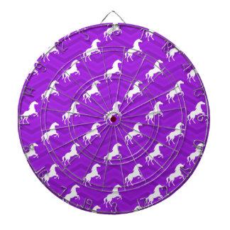 Modelo violeta de Chevron del caballo púrpura y bl