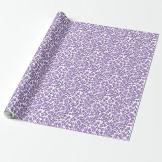 Modelo violeta de encargo de Ditsy del papel de Papel De Regalo