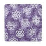Modelo violeta de los copos de nieve