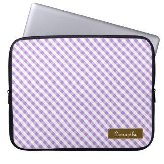 Modelo violeta en colores pastel lindo de la guing fundas portátiles