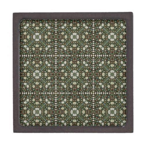 Modelo Wallpapered estilo de la silvicultura de Wi Caja De Recuerdo De Calidad