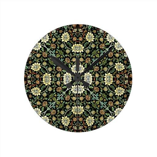 Modelo Wallpapered estilo de la silvicultura de Wi Reloj Redondo Mediano