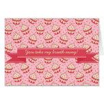Modelo y cinta brillantes de la magdalena del tarjeta de felicitación